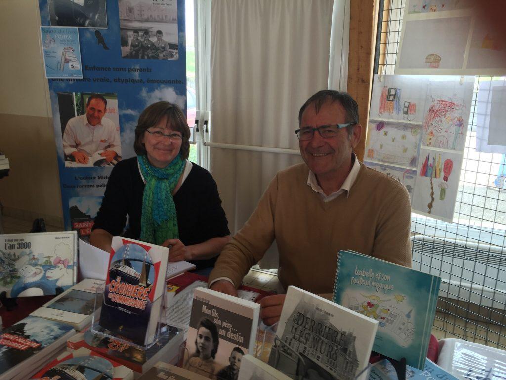 Caroline Delécluse et Michel Hervoche, organisent la troisième édition du salon des écrivains à Saint-Nazaire.